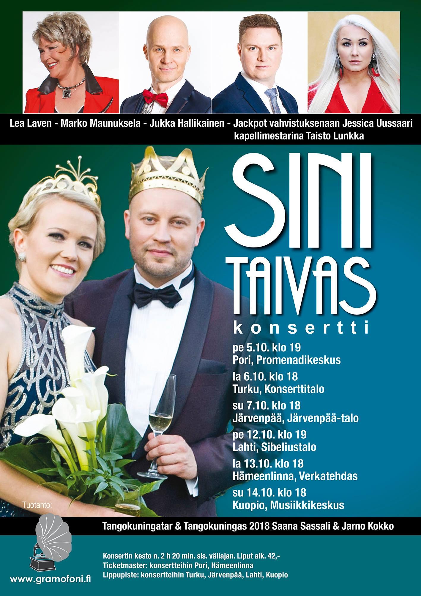 SINITAIVAS – konserttikiertue lokakuussa 2018