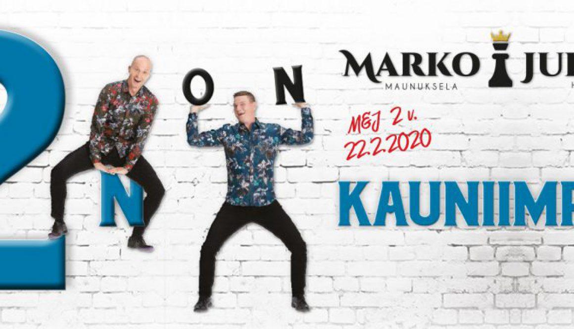 Marko ja Jukka – 2n on kauniinpaa konserttikiertue 2020