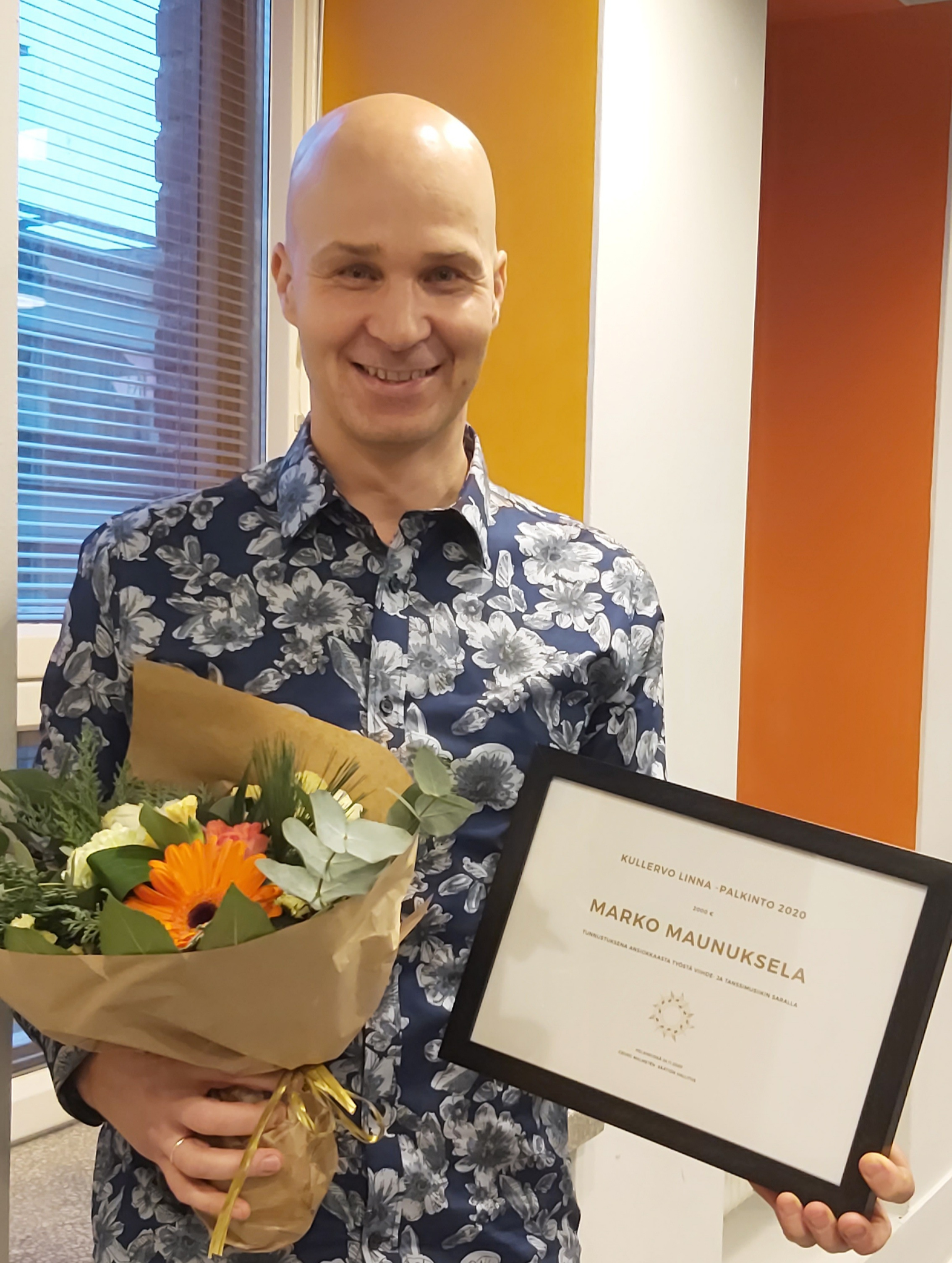 Marko Maunukselalle Kullervo Linna – palkinto